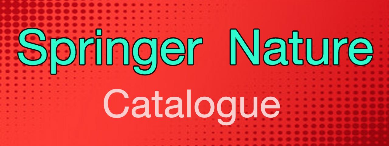 Springer Nature Catalogue