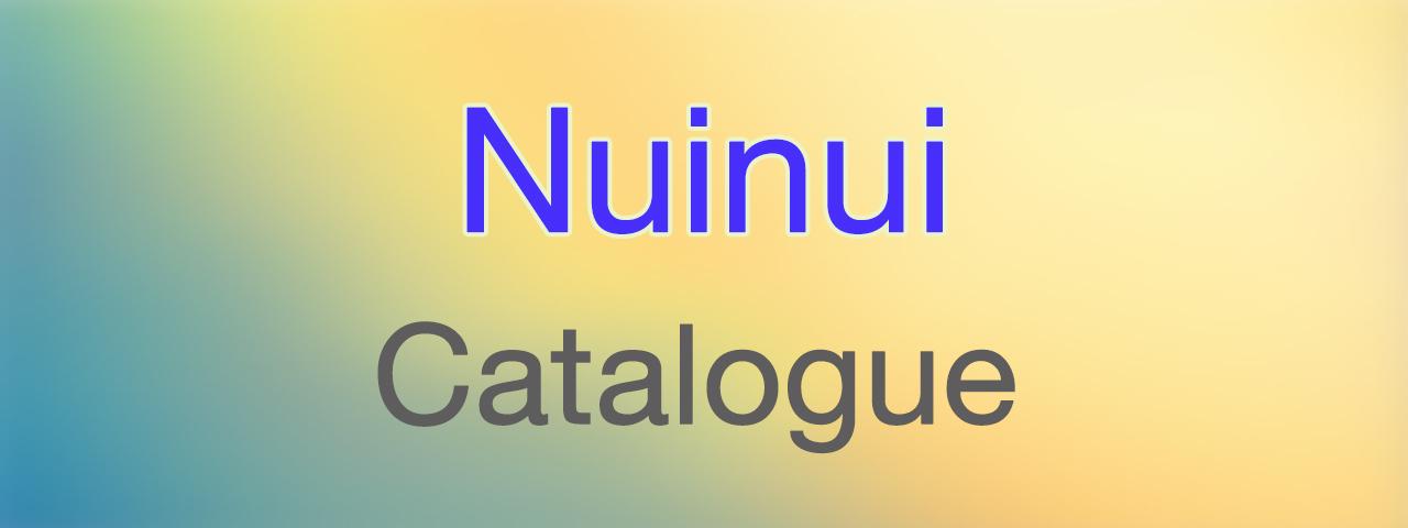 Nuinui Catalogue
